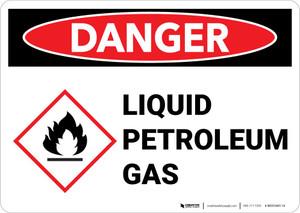 Danger: Liquid Petroleum Gas Landscape with Icon