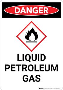 Danger: Liquid Petroleum Gas Portrait with Icon