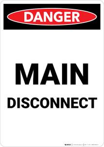 Danger: Main Disconnect Portrait