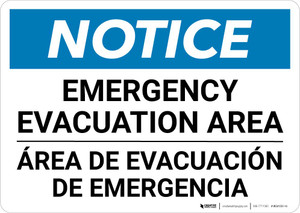 Notice: Bilingual Emergency Evacuation Area Landscape