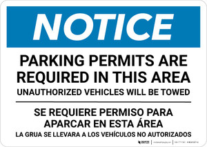 Notice: Bilingual Parking Permits Are Required In This Area Landscape