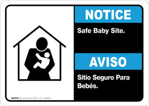 Notice: Bilingual Safe Baby Site Landscape