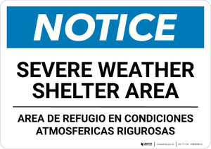 Notice: Bilingual Severe Weather Shelter Area Landscape