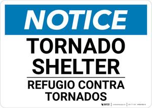 Notice: Bilingual Tornado Shelter Landscape
