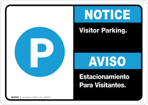 Notice: Bilingual Visitor Parking Landscape