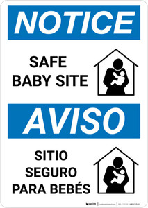 Notice: Bilingual Safe Baby Site Portrait