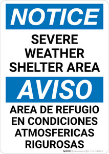 Notice: Bilingual Severe Weather Shelter Area Portrait