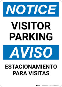 Notice: Bilingual Visitor Parking Portrait