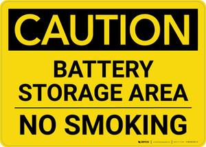 Caution: Battery Storage Area - No Smoking Landscape