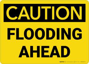 Caution: Flooding Ahead Landscape