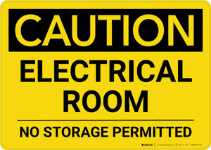 Caution: Electrical Room No Storage Permitted landscape