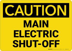 Caution: Main Electric Shut-Off Landscape