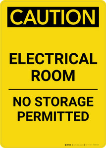 Caution: Electrical Room No Storage Permitted Portrait