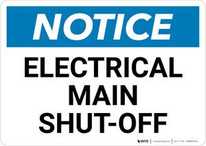 Notice: Electrical Main Shut-Off Landscape