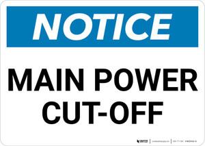 Notice: Main Power Cut-Off Landscape