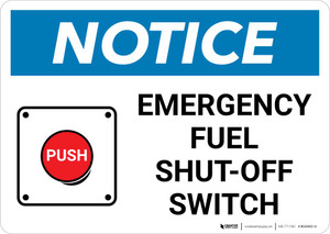 Notice: Emergency Fuel Shut-Off with Icon Landscape
