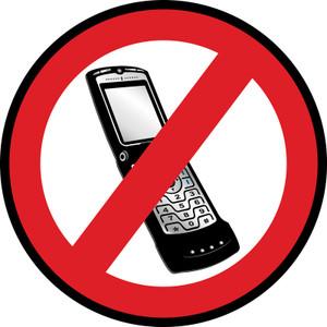 Phones Prohibited - Floor Sign