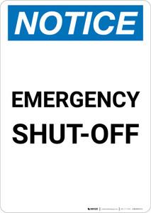Notice: Emergency Shut-off Portrait