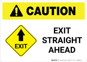 Caution: Exit Straight Ahead Landscape
