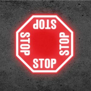 SignCast S300 Virtual Sign - 4 Way Stop Sign