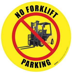 No Forklift Parking (Yellow) Floor Sign