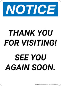 Notice: Thank You For Visiting - See You Again Soon Portrait
