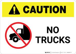 Caution: No Trucks with Icon Landscape