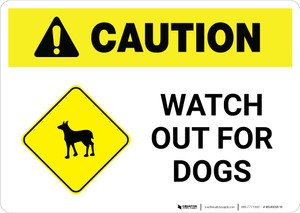 Caution: Watch Out for Dogs with Icon Landscape