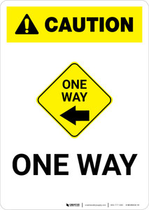 Caution: One Way Left with Icon Portrait