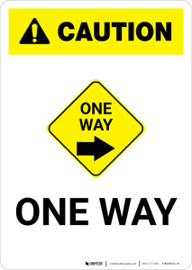 Caution: One Way Right with Icon Portrait