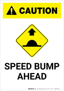 Caution: Speed Bump Ahead with Icon Portrait