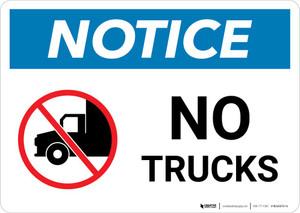 Notice: No Trucks with Icon Landscape