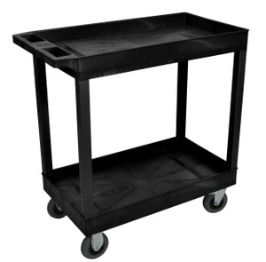 Luxor Black 18x32 2 Tub Cart W/ SP5 Casters