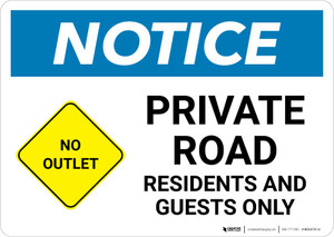 Notice: Private Road - Residents and Guests Only with Icon Landscape