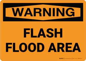 Warning: Flash Flood Area Landscape