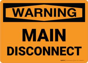 Warning: Main Disconnect Landscape