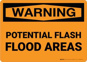 Warning: Potential Flash Flood Areas Landscape