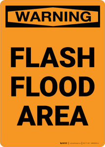 Warning: Flash Flood Area Portrait