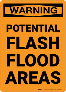 Warning: Potential Flash Flood Areas Portrait