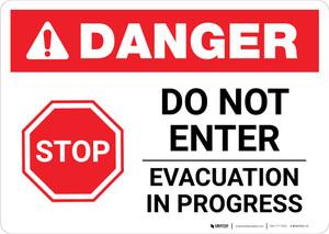 Danger: Do Not Enter Evacuation In Progress Landscape