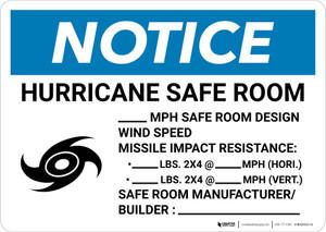 Notice: Hurricane Safe Room Design Wind Speed Landscape