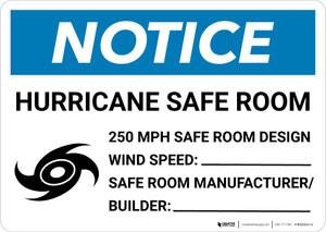 Notice: Hurricane Safe Room Landscape