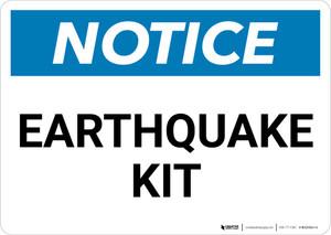 Notice: Earthquake Kit Landscape