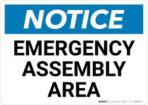 Notice: Emergency Assembly Area Landscape