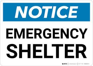 Notice: Emergency Shelter Landscape