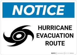 Notice: Hurricane Evacuation Route Landscape