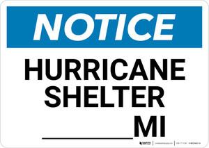 Notice: Hurricane Shelter Mile Landscape