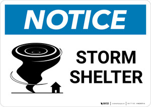 Notice: Storm Shelter with Icon Landscape