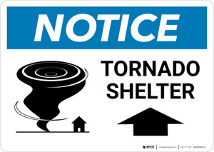 Notice: Tornado Shelter with Icon Landscape