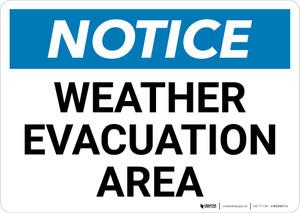 Notice: Weather Evacuation Area Landscape